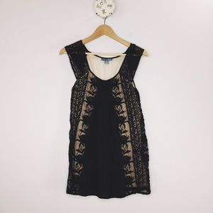Lil Anthropologie romantic lace tank tunic top